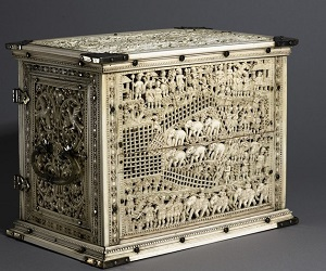 Ivory cabinet from Ashmolean collection
